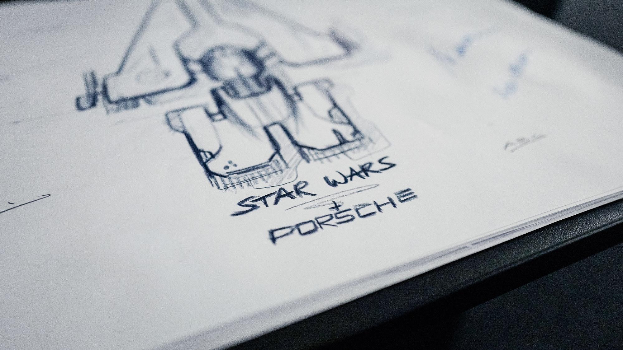 Ab in den Weltraum: Porsche und Lucasfilm entwerfen gemeinsam ein Fantasie-Raumschiff