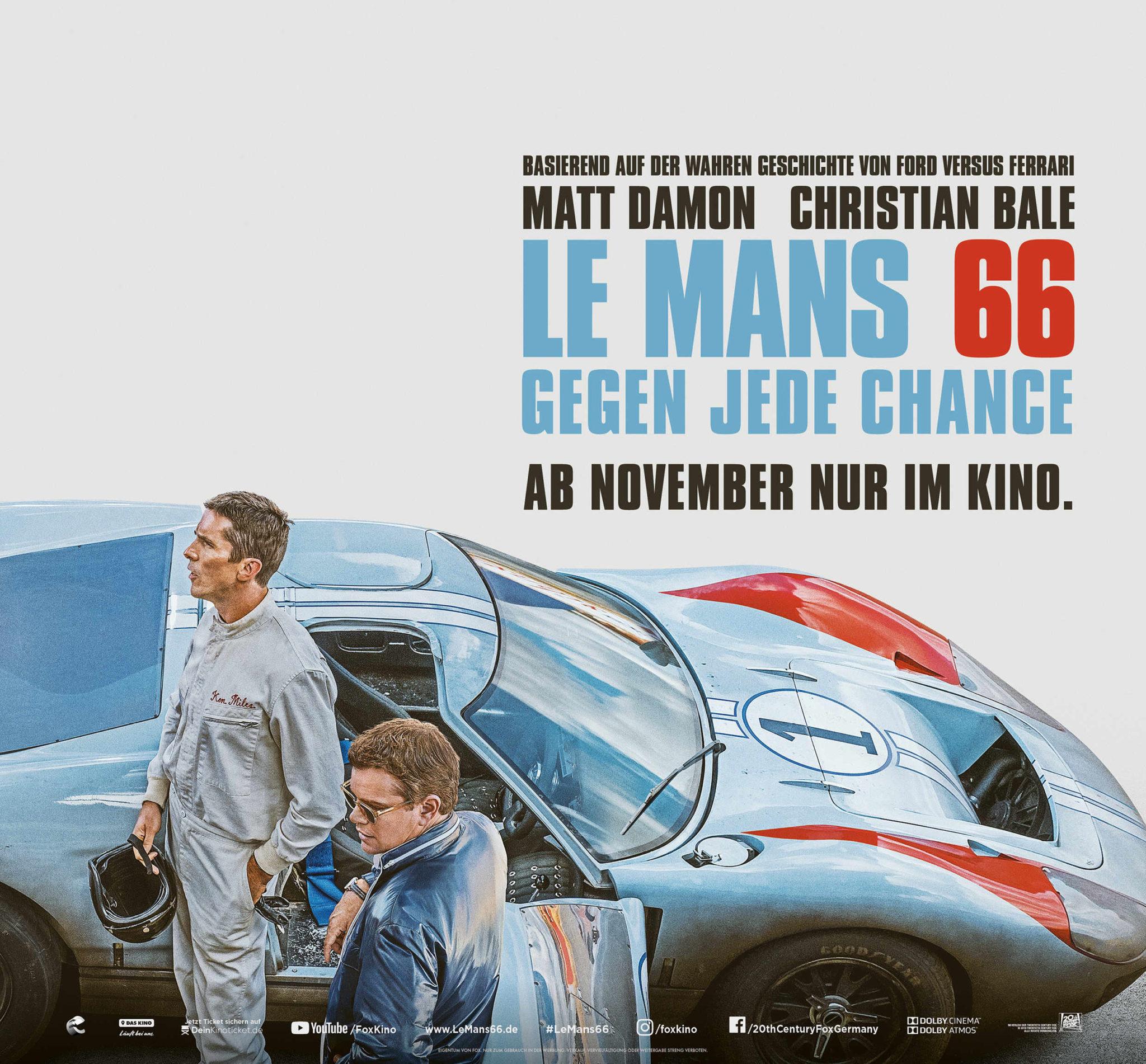 Filmtipp: Le Mans 66… Herzklopfen garantiert!